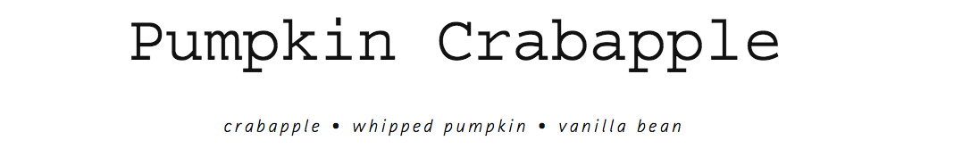 Pumpkin Crabapple